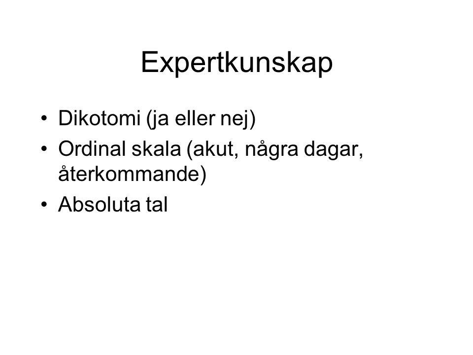 Expertkunskap Dikotomi (ja eller nej)