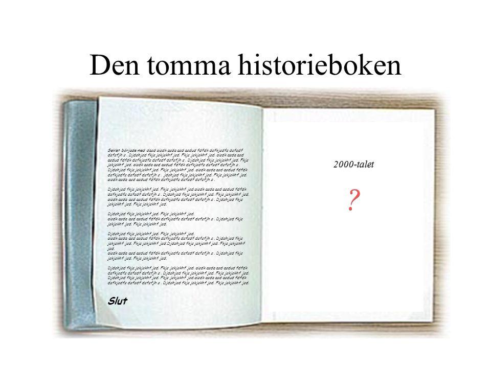 Den tomma historieboken