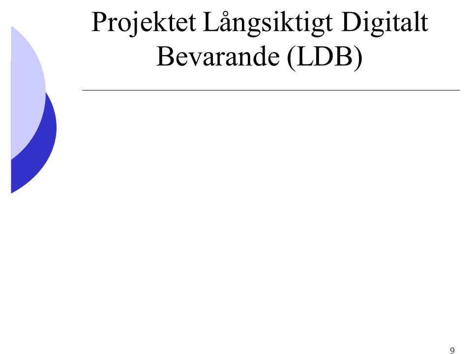 Projektet Långsiktigt Digitalt Bevarande (LDB)