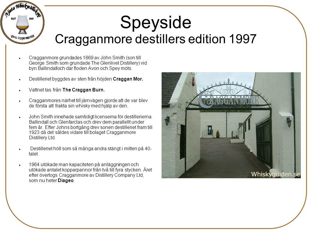 Speyside Cragganmore destillers edition 1997