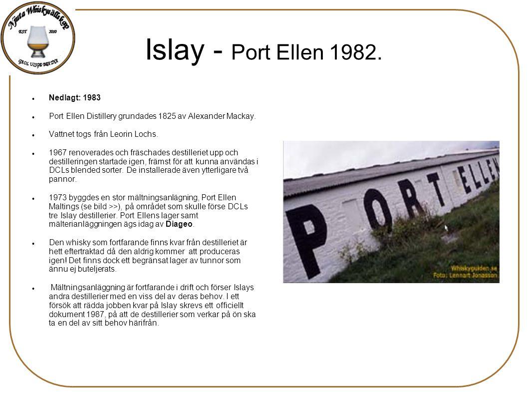 Islay - Port Ellen 1982. Nedlagt: 1983