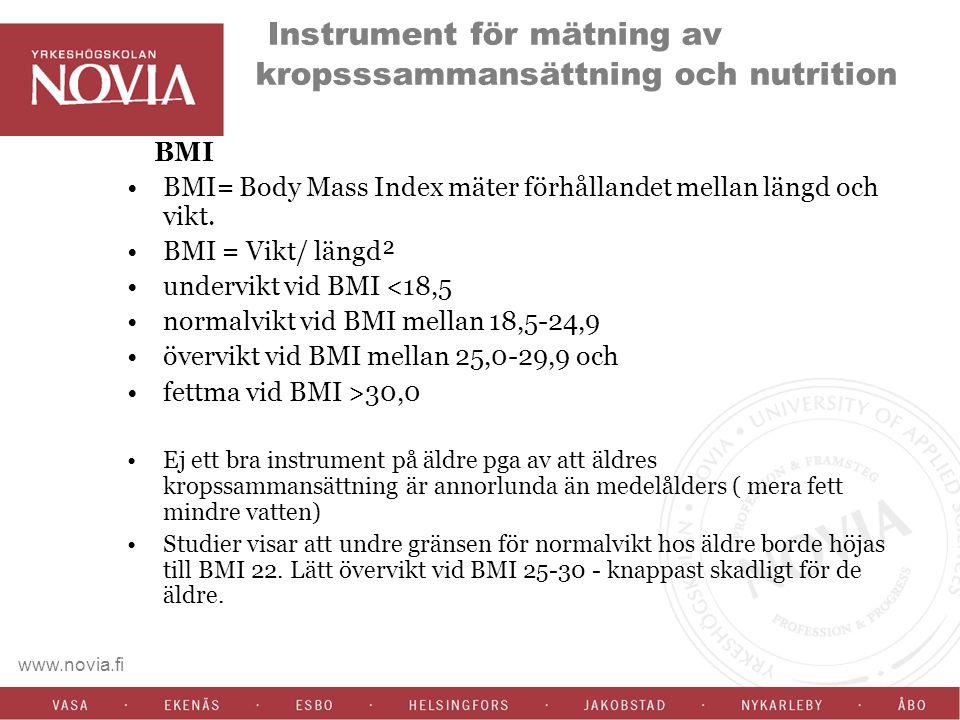 Instrument för mätning av kropsssammansättning och nutrition