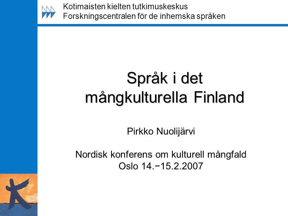 Språk i det mångkulturella Finland