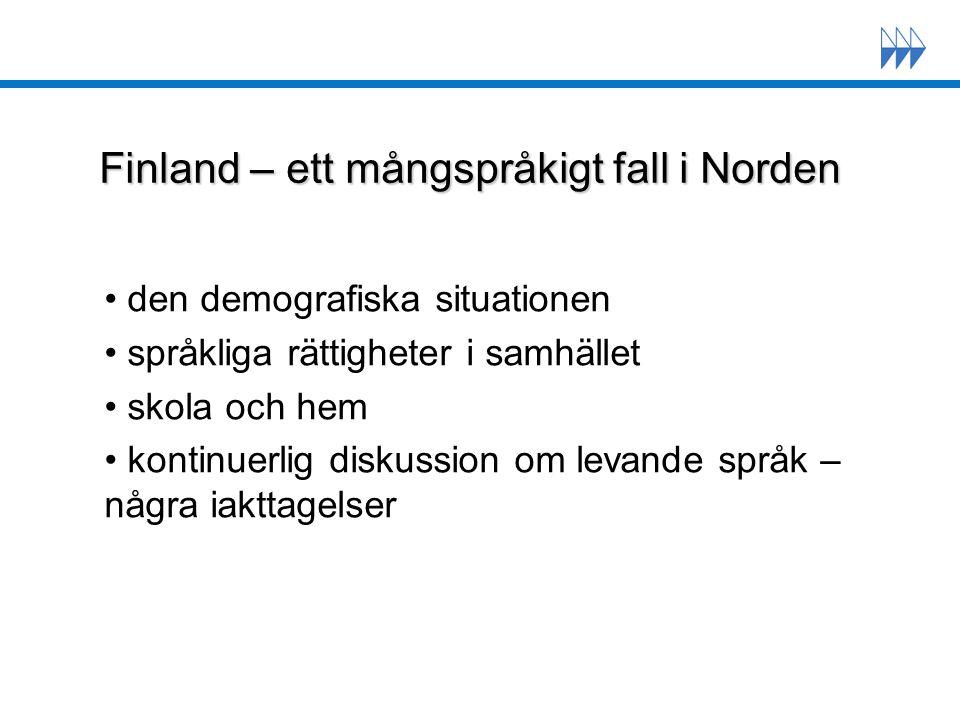 Finland – ett mångspråkigt fall i Norden