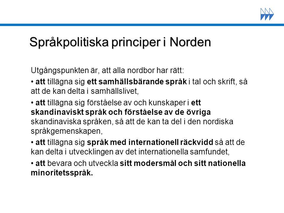 Språkpolitiska principer i Norden