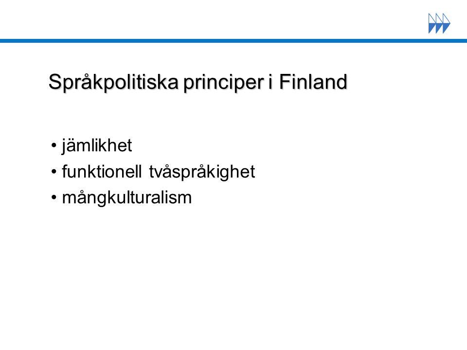 Språkpolitiska principer i Finland