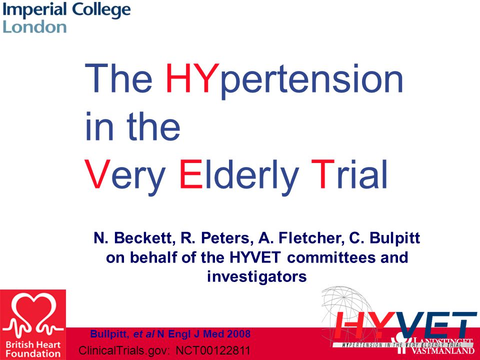 The HYpertension in the Very Elderly Trial