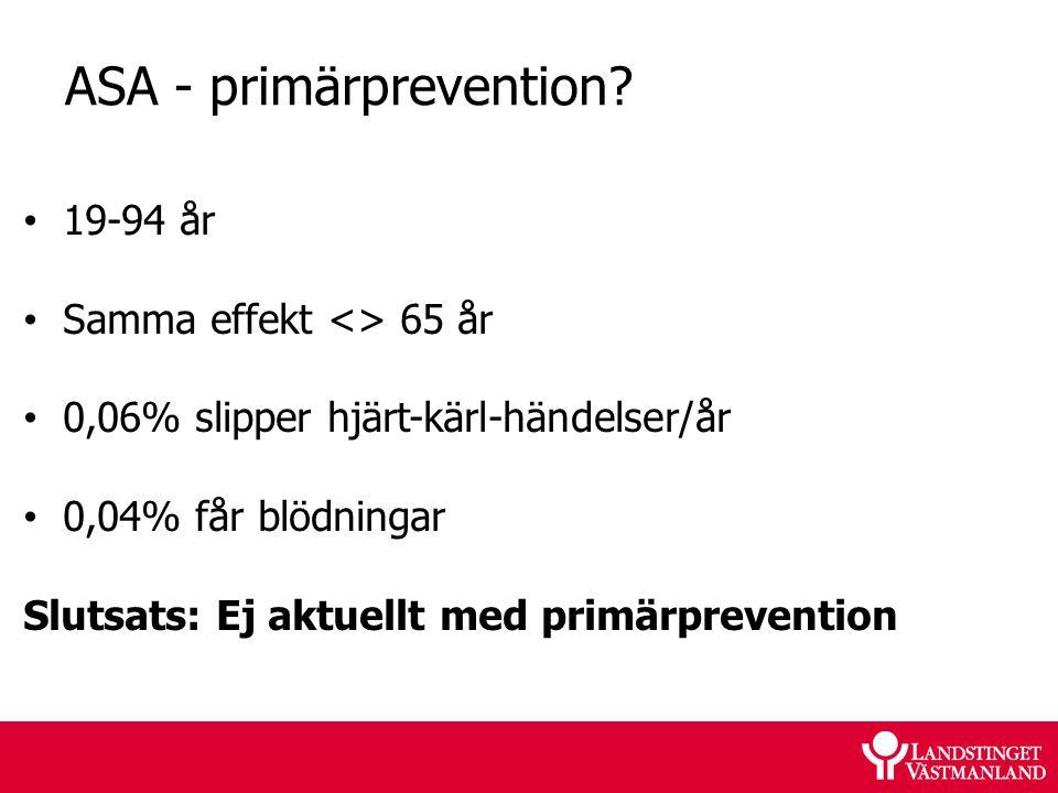 ASA - primärprevention