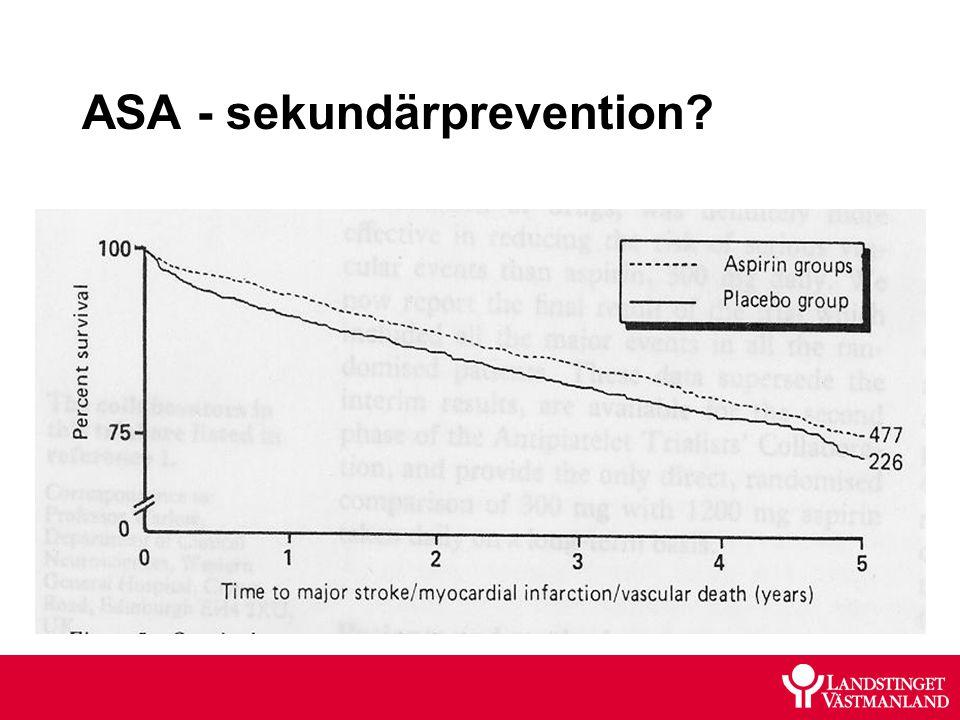 ASA - sekundärprevention