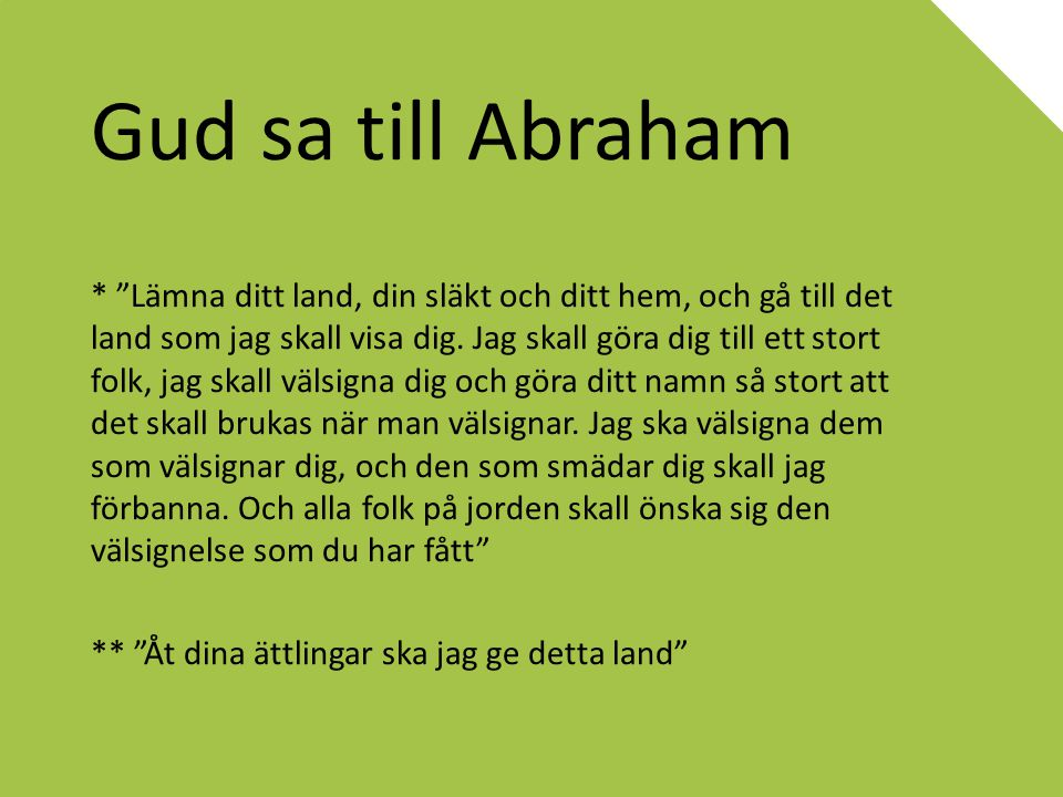 Gud sa till Abraham