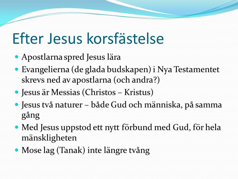Efter Jesus korsfästelse