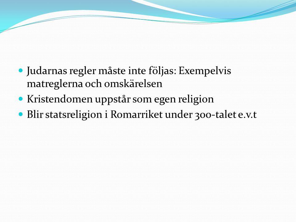 Judarnas regler måste inte följas: Exempelvis matreglerna och omskärelsen