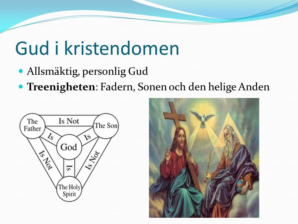Gud i kristendomen Allsmäktig, personlig Gud