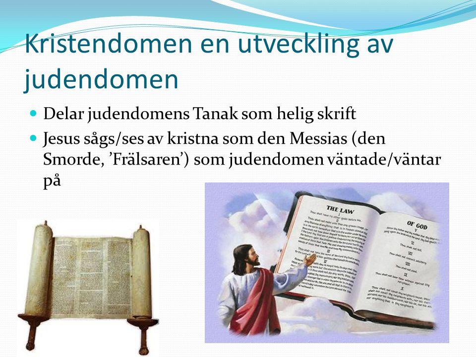 Kristendomen en utveckling av judendomen