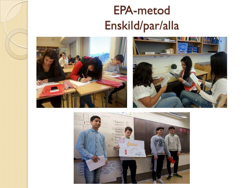 EPA-metod Enskild/par/alla