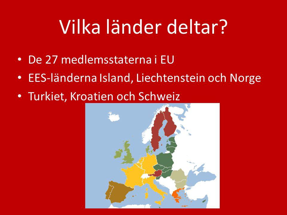 Vilka länder deltar De 27 medlemsstaterna i EU