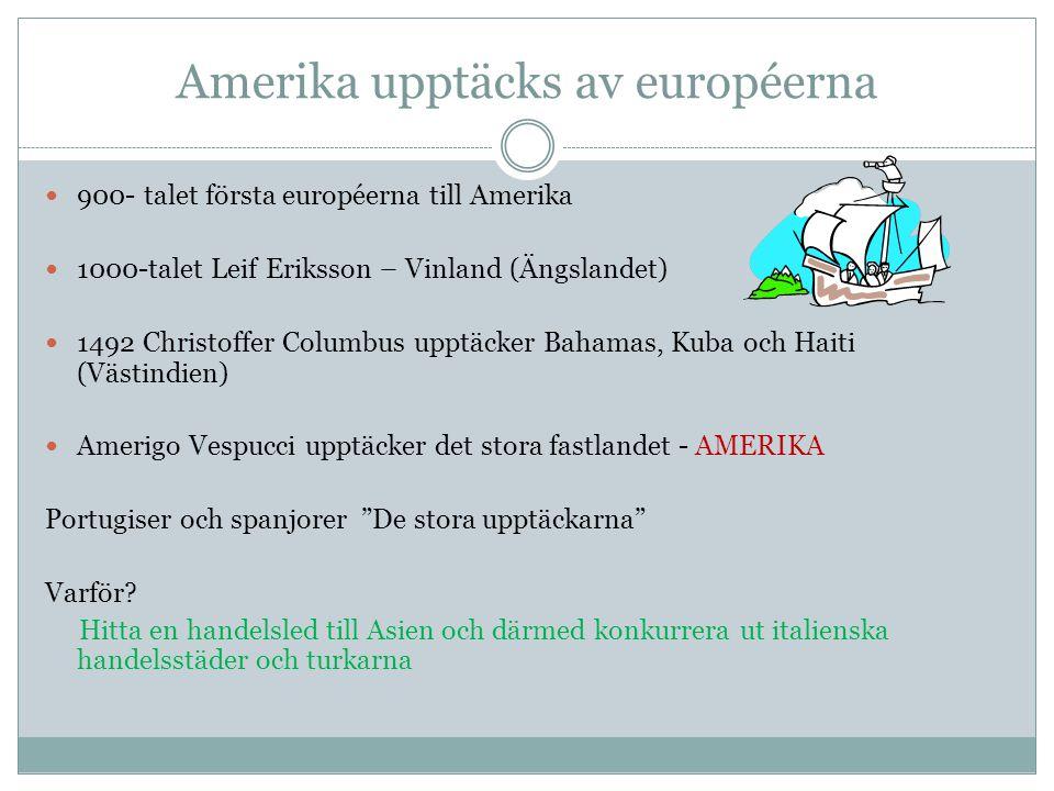 Amerika upptäcks av européerna