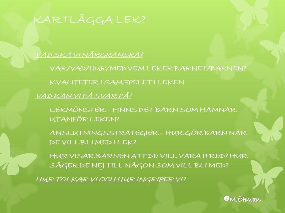 KARTLÄGGA LEK