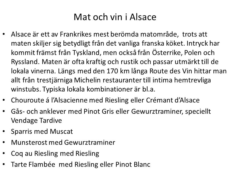 Mat och vin i Alsace