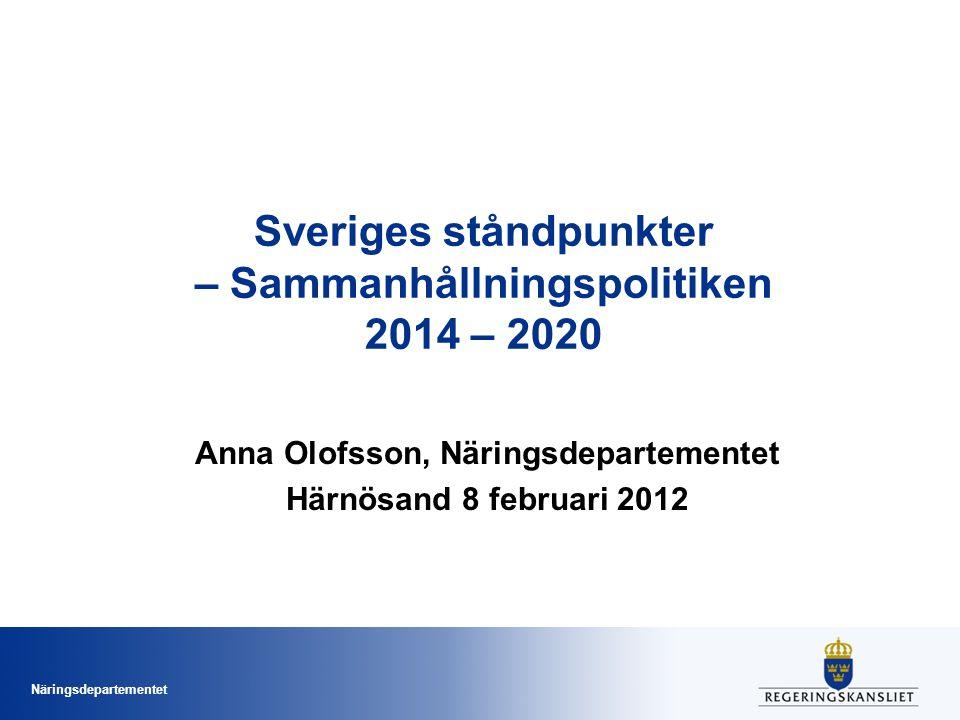 Sveriges ståndpunkter – Sammanhållningspolitiken 2014 – 2020