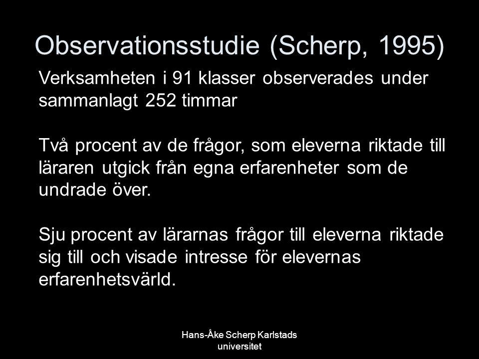 Observationsstudie (Scherp, 1995)