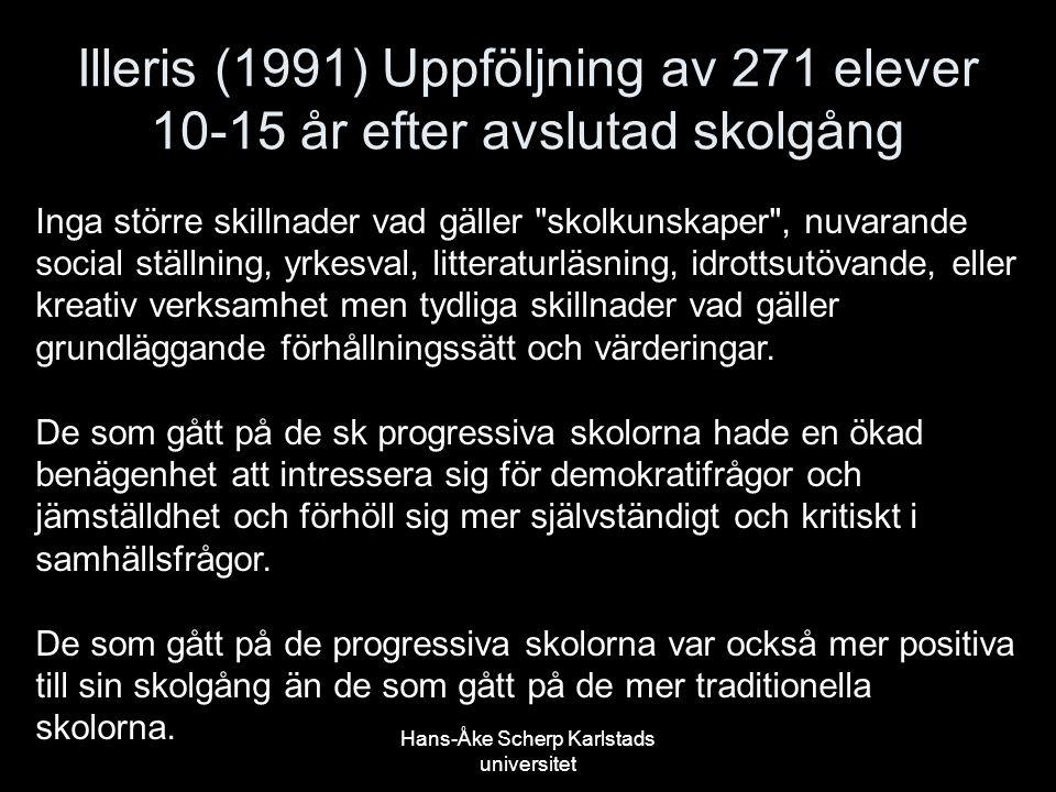 Hans-Åke Scherp Karlstads universitet