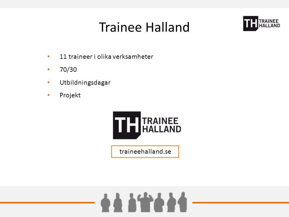 Trainee Halland 11 traineer i olika verksamheter 70/30