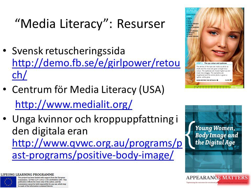 Media Literacy : Resurser