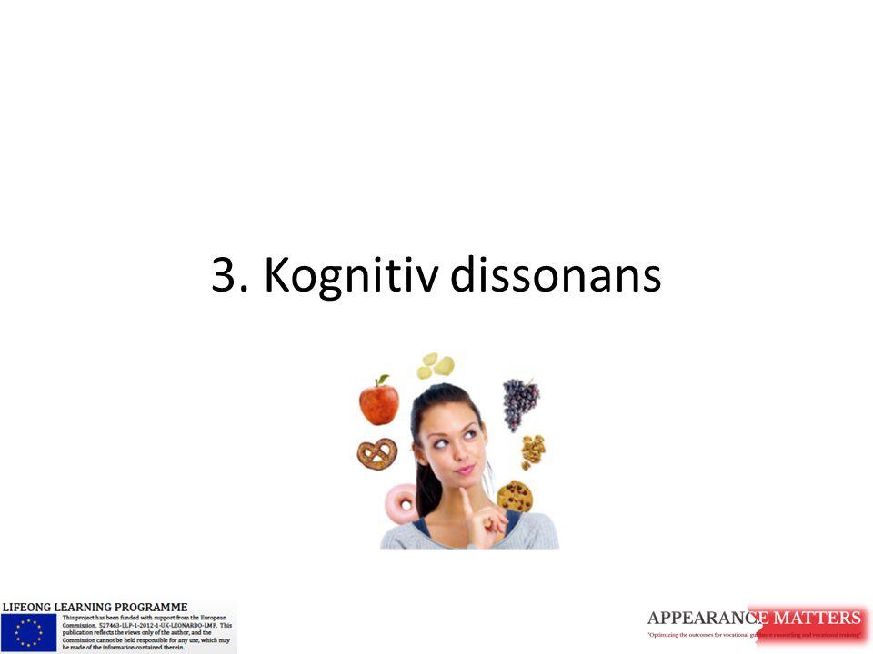 3. Kognitiv dissonans