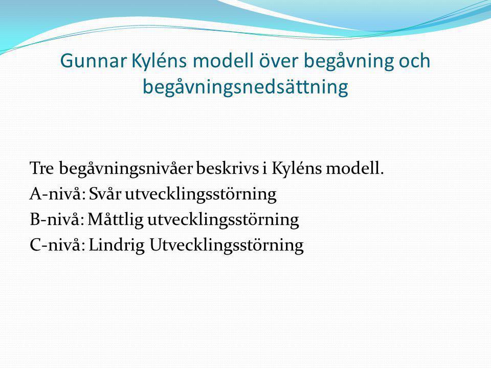 Gunnar Kyléns modell över begåvning och begåvningsnedsättning