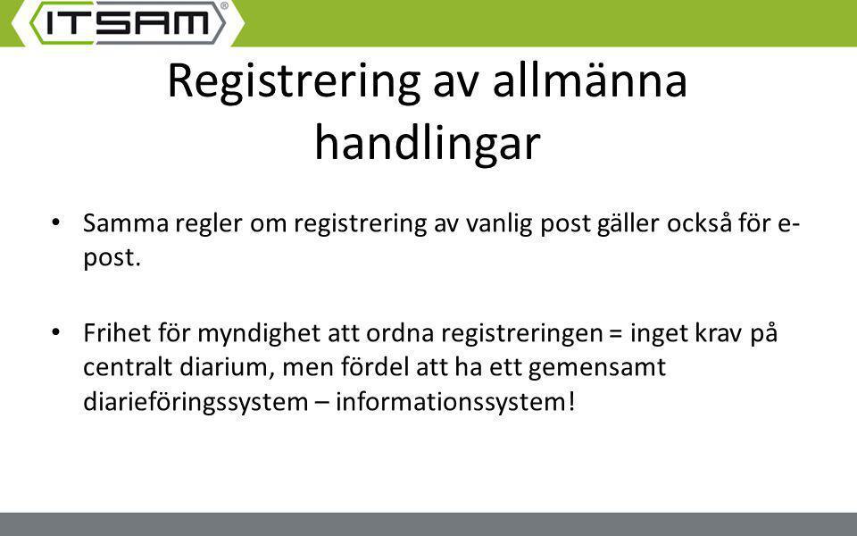 Registrering av allmänna handlingar