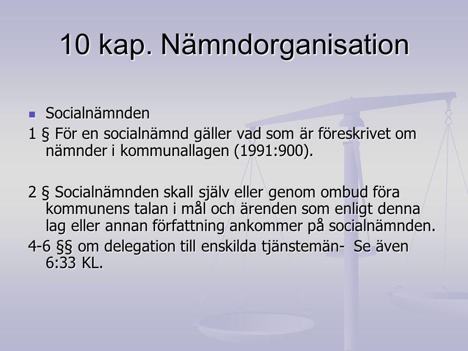 10 kap. Nämndorganisation