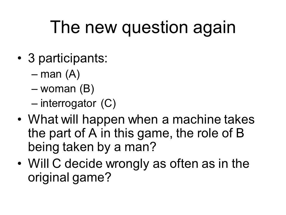 The new question again 3 participants: