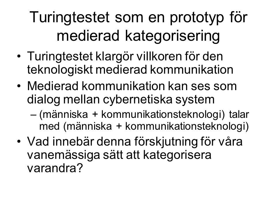 Turingtestet som en prototyp för medierad kategorisering