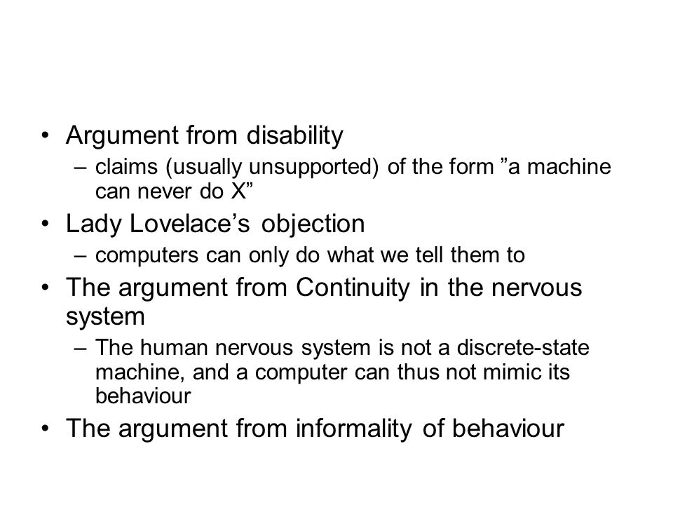 Argument from disability