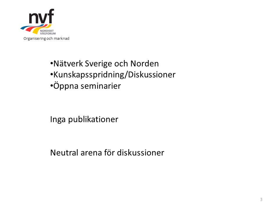 Nätverk Sverige och Norden Kunskapsspridning/Diskussioner