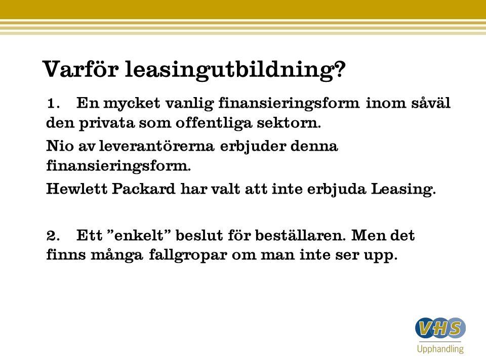 Varför leasingutbildning