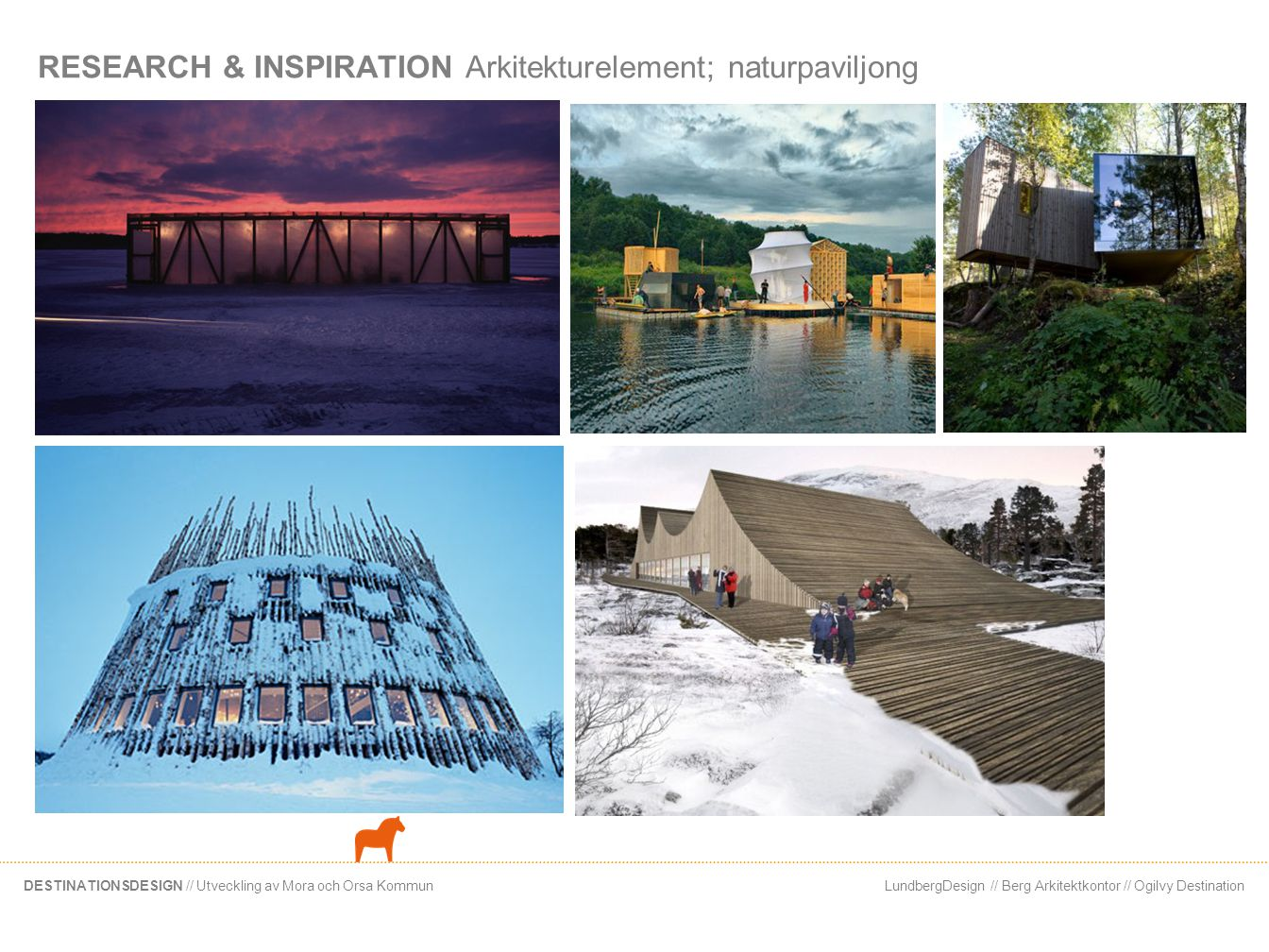 RESEARCH & INSPIRATION Arkitekturelement; naturpaviljong
