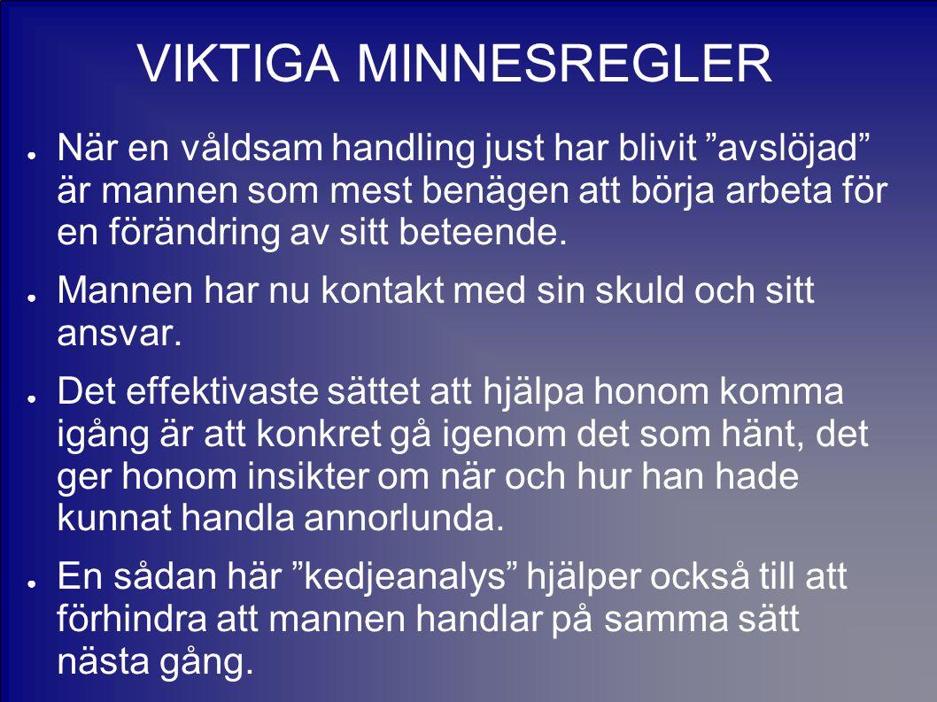 VIKTIGA MINNESREGLER