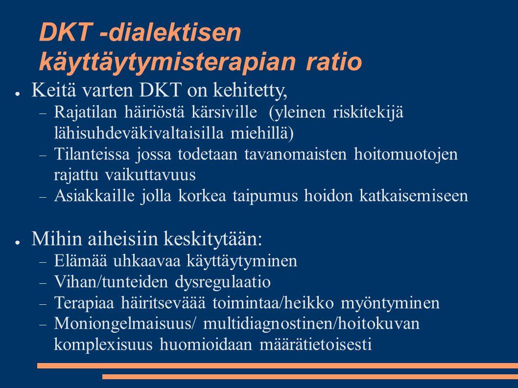 DKT -dialektisen käyttäytymisterapian ratio