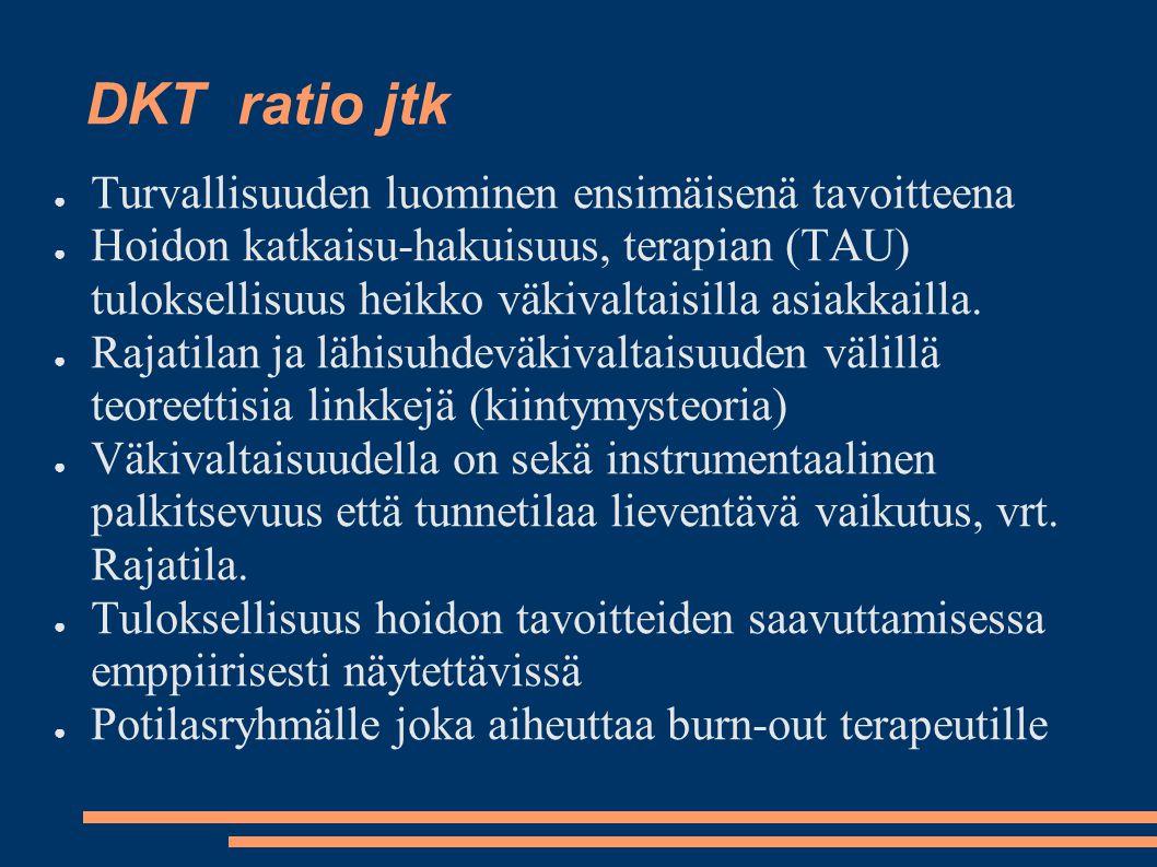 DKT ratio jtk Turvallisuuden luominen ensimäisenä tavoitteena