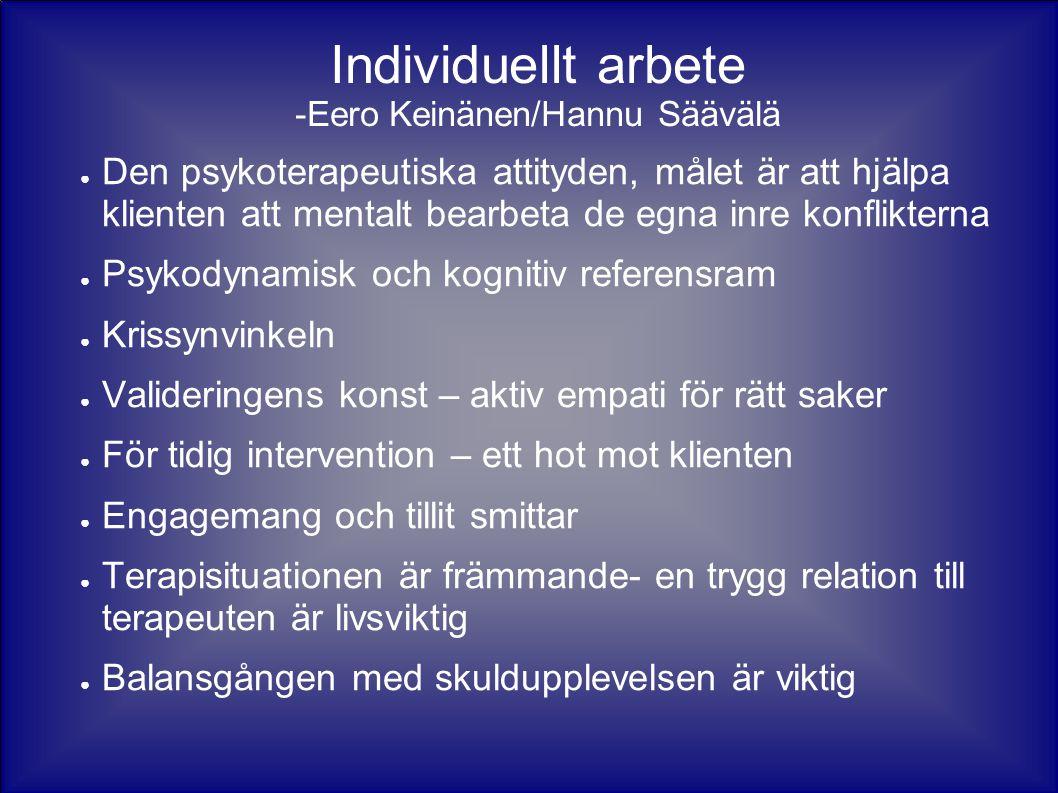 Individuellt arbete -Eero Keinänen/Hannu Säävälä