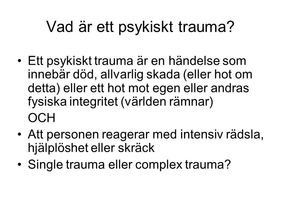 Vad är ett psykiskt trauma