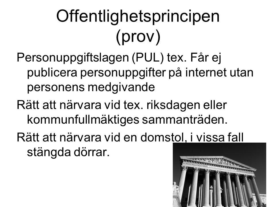 Offentlighetsprincipen (prov)