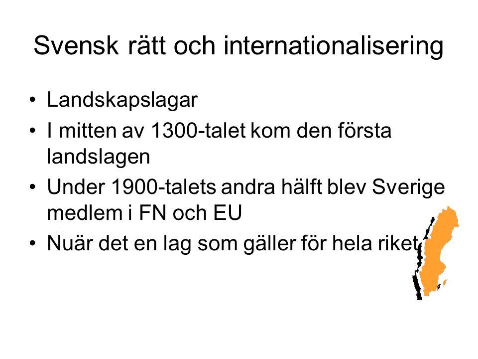Svensk rätt och internationalisering