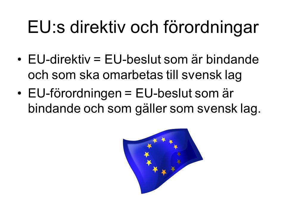 EU:s direktiv och förordningar