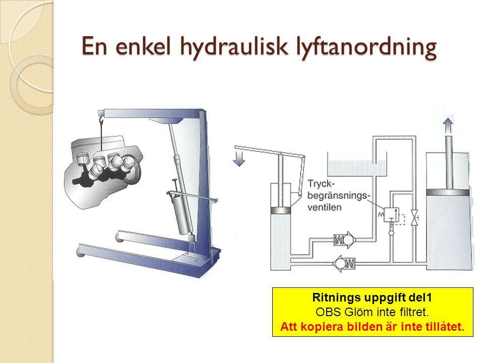 En enkel hydraulisk lyftanordning