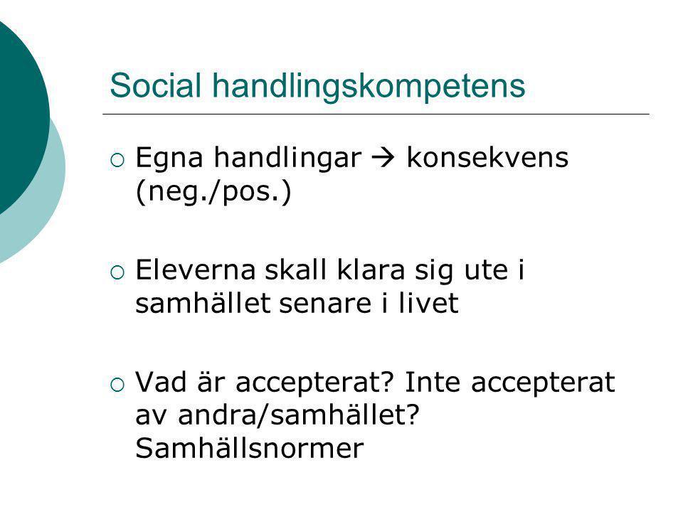 Social handlingskompetens