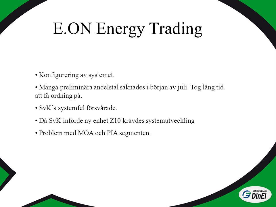 E.ON Energy Trading Konfigurering av systemet.