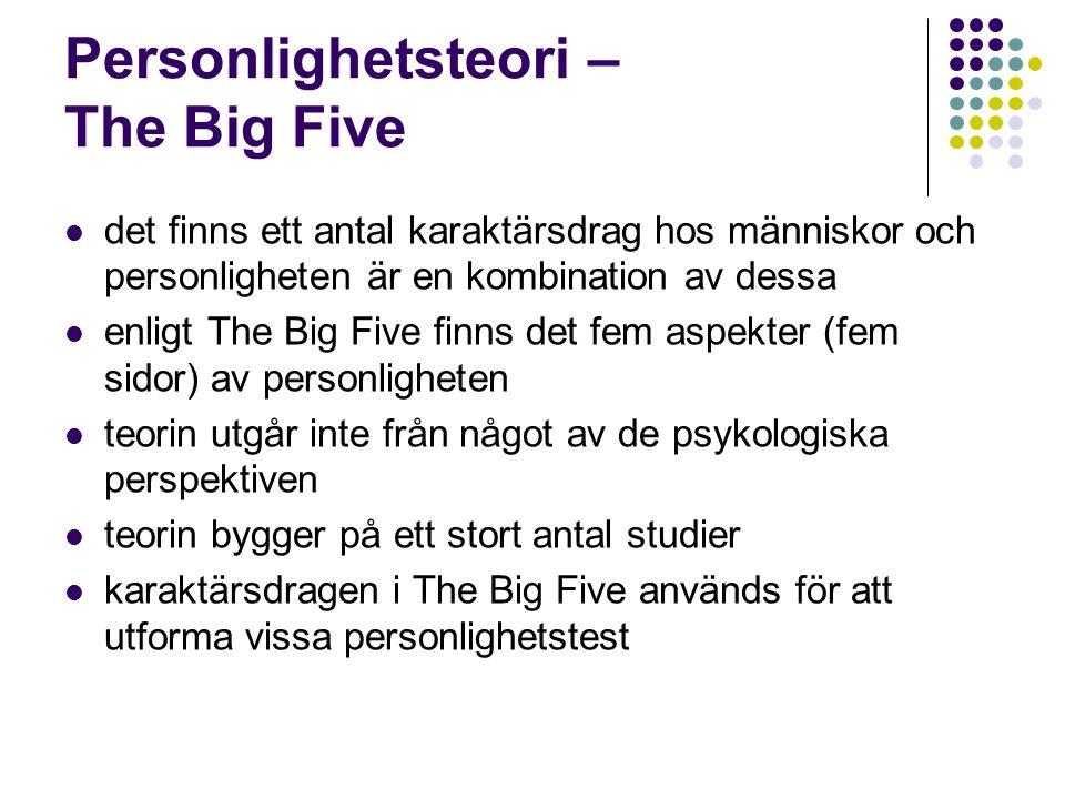 Personlighetsteori – The Big Five